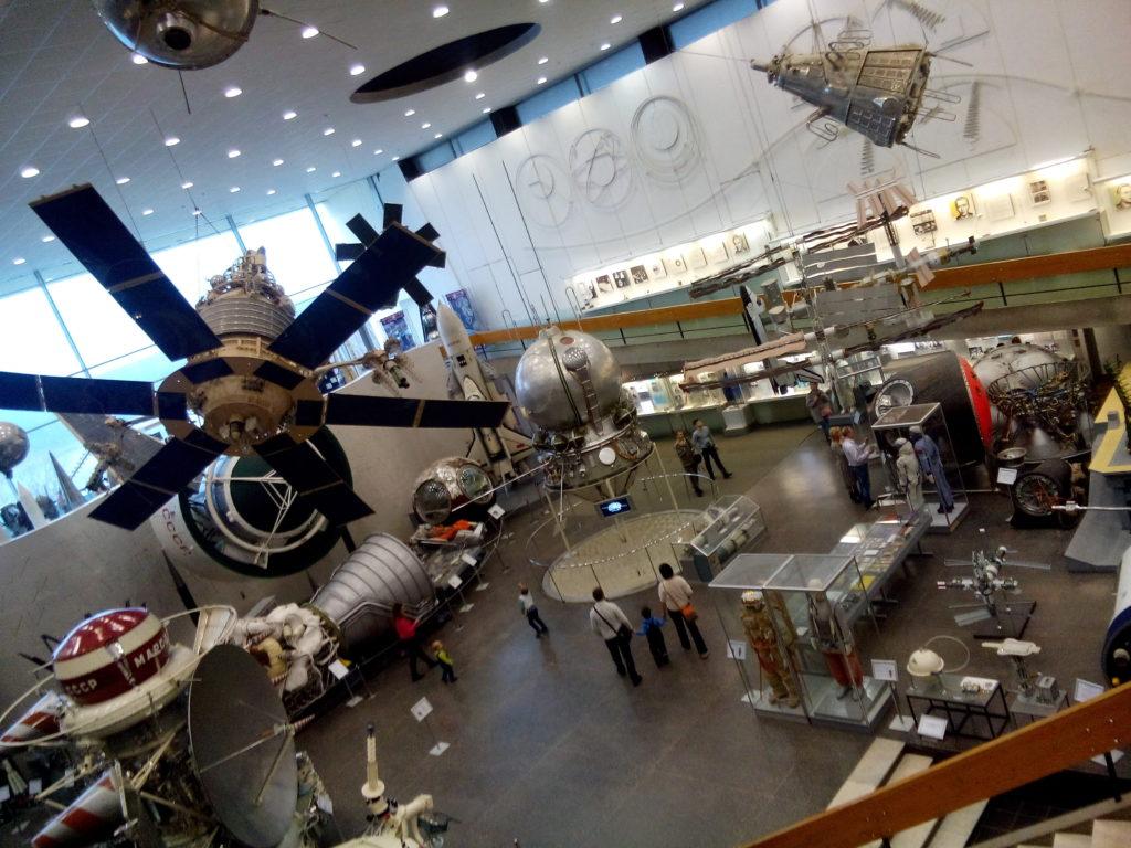 Внутри музея космонавтики в Калуге